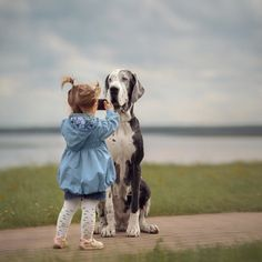 Size may actually matter. A new study suggests that bigger dogs perform better at tasks that involve memory and cognition. Does that mean that big dogs are smarter than little dogs? Dogs And Kids, Big Dogs, Large Dogs, Animals For Kids, Animals And Pets, Baby Animals, Funny Animals, Cute Animals, Great Dane Dogs