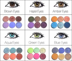 Eye shadow for different eye colors