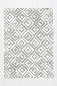 Inverted Diamond 5x7 Rug in Grey - Urban Outfitters