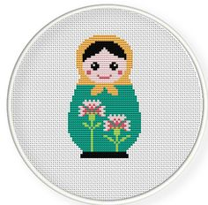 Instant Download,Free shipping,Cross stitch pattern, Cross-StitchPDF,Carnation Russian Doll,Matryoshka  Babushkas,zxxc0254 by danceneedle on Etsy https://www.etsy.com/listing/100742320/instant-downloadfree-shippingcross