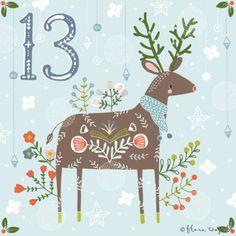 Flora Waycott Christmas Advent 2014 DAY 13 - I want to be the prettiest reindeer! xx