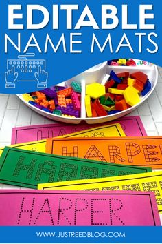 These FREE editable name practice mats will help your little learners to learn to write and spell their name. This worksheet alternative is perfect for hands on morning work and for your writing center. Preschool Names, Preschool Lesson Plans, Preschool Learning Activities, Preschool Letters, Letter Activities, Kindergarten Writing, Preschool Printables, Preschool Classroom, Writing Activities