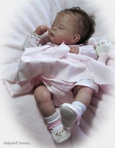 Penny kit & cloth body & FREE Belly Plate by Linda Murray - Online Store - City of Reborn Angels Supplier of Reborn Doll Kits and Supplies