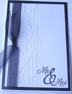 Handmade Wedding card Mr and Mrs by kattfive on Etsy, $3.50