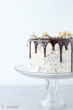 Banoffee Layer Cake - with recipe for Banana Toffee Filling