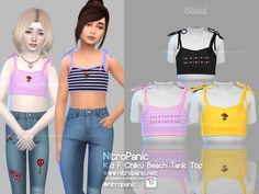 Chiku Beach Tank Top Kid F for The Sims 4 Source by emilymaekerley clothes The Sims 4 Kids, The Sims 4 Bebes, The Sims 4 Pc, Sims 4 Children, Sims Cc, Sims 4 Tsr, Children Style, Boys Style, Young Children