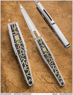 Bastard Sword, Pretty Knives, Automatic Knives, Damascus Blade, Knife Art, Metal Engraving, Wedding Tattoos, Handmade Knives, Knives And Tools