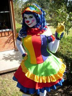 Rires le Clown Costume Lady Multicolore