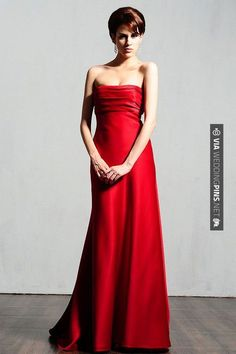 So good! - floor length bridesmaid gowns | CHECK OUT MORE GREAT RED WEDDING IDEAS AT WEDDINGPINS.NET | #weddings #wedding #red #redwedding #thecolorred #events #forweddings #ilovered #purple #fire #bright #hot #love #romance #valentines