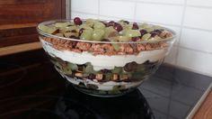Schichtdessert mit Weintrauben, ein tolles Rezept aus der Kategorie Dessert. Bewertungen: 221. Durchschnitt: Ø 4,7.
