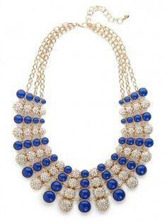 Blue & diamond bib beautiful