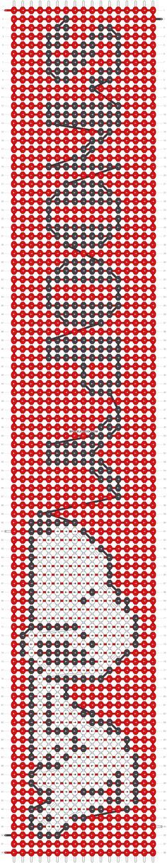 Snoopy friendship bracelet pattern number #10830 - For more patterns and tutorials visit our web or the app!