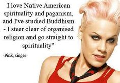 Spirituality. I knew I was loving her for more than her voice!  Xoxo Pink!