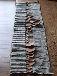 Ultieme combinatie hout en linnen. wooden spoon arsenal. just in case??