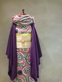 着物とスカーフ