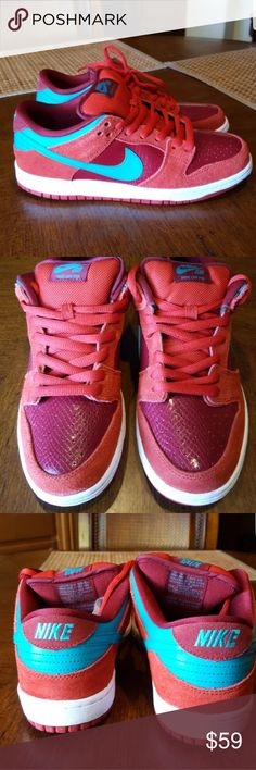 Nike SB dunk low Nike SB Dunk Low Pro Brickhouse/Turbo Green-Team Red.  New with no tags.  Replacement box. Nike Shoes Sneakers