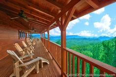 One of the 2 wraparound deck levels on our cabin, a The Deckhouse Smoky Mountain Cabin Rentals, Smoky Mountains Cabins, Great Smoky Mountains, Cabin Porches, Blue Ridge, Wraparound, Pergola, National Parks, Deck