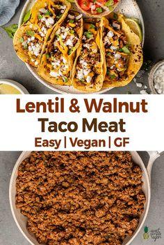 Vegan Meal Prep, Vegan Dinner Recipes, Vegan Dinners, Lunch Recipes, Meat Recipes, Mexican Food Recipes, Whole Food Recipes, Vegetarian Recipes, Cooking Recipes