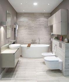 Simple, modern bathroom design.
