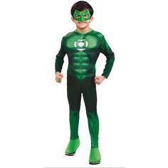 Disfraz de Linterna Verde musculoso niño - 39.99 + 5.99 anillo - 24/48 horas