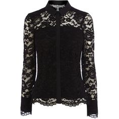 ADELIA LACE BLOUSE ($110) ❤ liked on Polyvore featuring tops, blouses, shirts, long sleeves, long-sleeve shirt, lace blouse, long sleeve lace blouse, slim fit long sleeve shirts and lace shirt