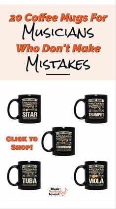 20 music coffee mugs
