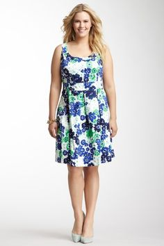 Donna Ricco Sleeveless Print Dress - Plus Size by Plus Size Dresses on @HauteLook