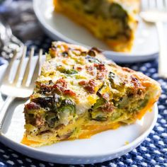 This paleo quiche has an easy butternut squash crust and is packed with sausage, veggies and tons of flavor. It's Whole30 too!