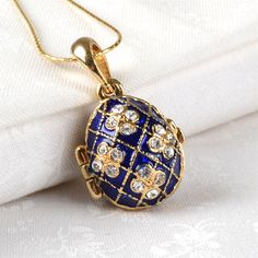 Looking for a beautiful Faberge egg? Check out our Faberge egg pendants! They are enameled and studded with Austrian crystals. Faberge Jewelry, Faberge Eggs, Egg Art, Antique Art, Crystals And Gemstones, Jewelery, Fine Jewelry, Bling, Pendants