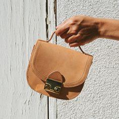 Loeffler Randall RE17 - Mini Saddle Bag in Natural Vachetta