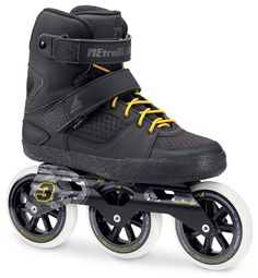 "The new Rollerblade Metroblade 3x110 3WD 2017 Skates    ""Built upon the already hugely popular Rollerblade Metroblade series of skates, Rollerblade have really upped the game for 2017 and released one of the most stylish Tri-skates too date, with bucket loads of cool features..."""