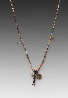 M.Cohen Natural Horn Pendant Bracelet in Mixet Natural