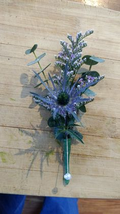 Sea Holly boutineer