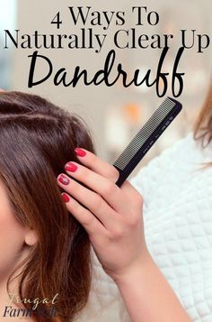 Check out my 4 ways to clear up dandruff & stop feeling bad about your dry scalp! The best part is you probably have these natural remedies in your pantry! Dry Scalp Remedy, How To Cure Dandruff, Home Remedies For Dandruff, Home Remedies Beauty, Hair Dandruff, Getting Rid Of Dandruff, Natural Cough Remedies, Natural Cures, Herbal Remedies