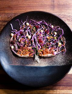 Tuna Tataki - red cabbage three ways - apple dressing with horseradish emulsion by FOUR - The World's Best Food Magazine's chef Luke Dale-Roberts