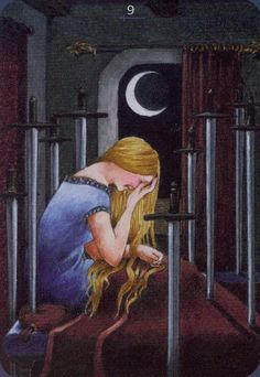 Nine of Swords - Anna.K Tarot by Anna Klaffinger