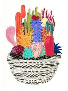Resultado de imagem para watercolor cactus