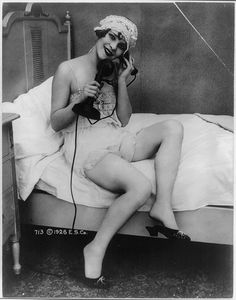 vintage everyday: How to Dress When Using Your Landline, ca. 1900s