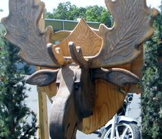3-D Moose head -large [3-D Moose head -large] - $395.00 : Glass Moose Cart, handcrafted glass, beads/supplies, jewelry, wood & metal art, signs