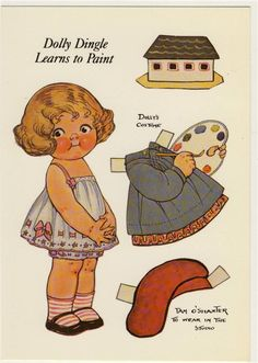 Dolly Dingle learns to paint paper dolls