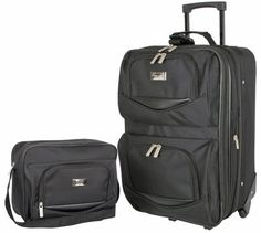 Luggage Sets Collections | Geoffrey Beene Main Street 2 Piece Set Black One Size *** You can find more details by visiting the image link. Note:It is Affiliate Link to Amazon.