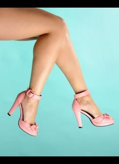 Knotted Ankle Strap Heel in Pink