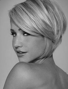 short styles for women with thin hair | pretty angled bob with long bangs totally would do this if my husband ...