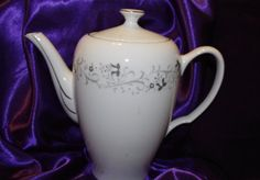 Gorgeous Vintage Moon Mist 3000 Ceramic Teapot  Fine China by 2BEB, $32.00