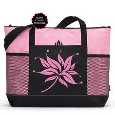 c67db422fd Custom Lotus fleur zippée Tote Bag - Sac de sport, sac de plage, sac de  Yoga, Camping fourre-tout, sac d'école, cadeau de demoiselle d'honneur, ...