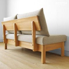 Global Market: An amount of money changes by cover ring sofa domestic production sofa woodenness sofa sofa net shop-limited original setting ※ size of the wooden frame of 3 サイズタモ materials タモ pure materials of in width Wooden Couch, Wood Sofa, Furniture Projects, Diy Furniture, Furniture Design, Modern Wood Furniture, Furniture Chairs, Furniture Plans, Garden Furniture