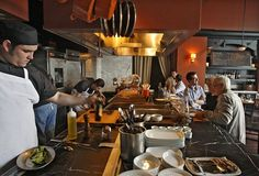 Chi Spacca: The small restaurant space has an open kitchen. Restaurant Kitchen Design, Ramen Restaurant, Bistro Kitchen, Rustic Restaurant, Sydney Restaurants, York Restaurants, Small Restaurants, Design Despace, Starting A Restaurant