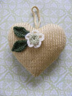Small knitted heart for Valentine's Day
