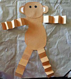 Valentine's Day Heart Monkey Craft For Kids - Crafty Morning