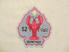 Massachusetts Boy Scout OA Moswetuset Lodge 52 C1B Arrow Shaped Chenille | eBay